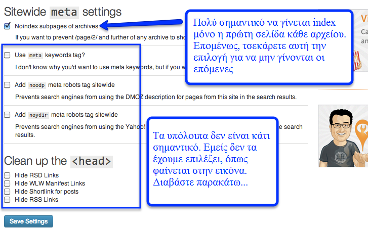Indexation for Subpages WordPress SEO